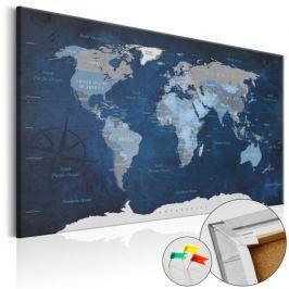 Obraz na korku - Granatowy świat [Mapa korkowa]