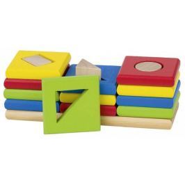Sortowania kolorów i kształtów, naucz się liczyć, 3 wieże, 12 el., goki basic.