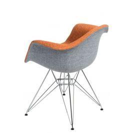 Krzesło P018 DAR Duo pomarańcz. szare
