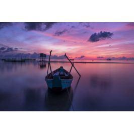 Zachód słońca nad oceanem - plakat