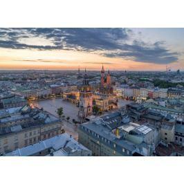 Kraków Rynek Wschód Słońca III - plakat premium
