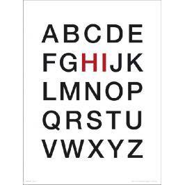 Alphabet Hi - plakat premium
