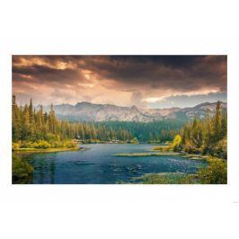 Górskie widoki - plakat