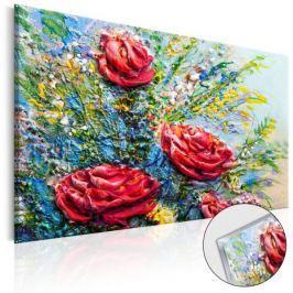 Obraz na szkle akrylowym - Malowane róże [Glass]