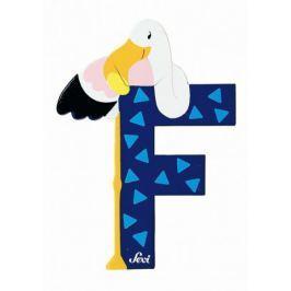 Drewniana literka F, zwierzęta