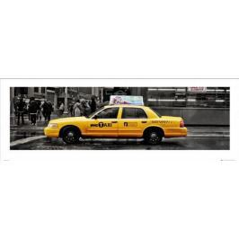 Nowy Jork 7th Avenue Taxi - plakat premium