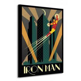 Marvel Deco (Iron Man) - Obraz na płótnie