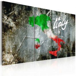 Obraz - Artystyczna mapa Włoch - tryptyk