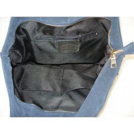 Duża torebka worek XXL pojemna na ramię Vera Pelle zamsz Camel TVP22C