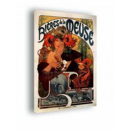 Biéres de la meuse - Alfons Mucha - obraz na płótnie