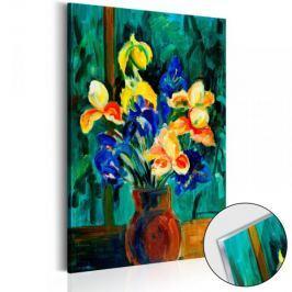 Obraz na szkle akrylowym - Bukiet irysów [Glass]