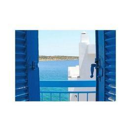 Grecja,  Balkon na Krecie - plakat premium
