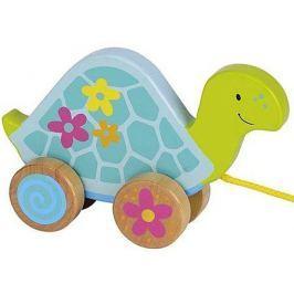 Drewniany żółwik na sznureczku