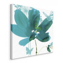 Butterflies and Flowers  - Obraz na płótnie
