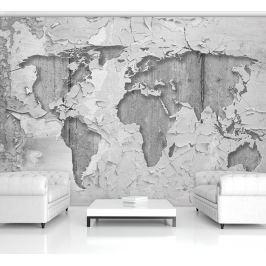 Fototapeta betonowa Mapa Świata flizelinowa