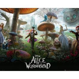 Alicja w Krainie Czarów Tryptyk - plakat