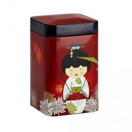 Puszka na herbatę stalowa EIGENART KIMONO GEJSZA I KWIATY CZERWONA 0,1 l