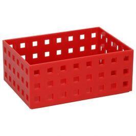 Organizer / Wkład do szuflady uniwersalny plastikowy CONFETTI CZERWONY 15,5 x 11 cm