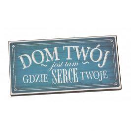 Tabliczka z napisem dekoracyjna drewniana PAN DRAGON DOM