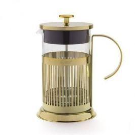 French press / Zaparzacz do kawy tłokowy szklany LEOPOLD ZŁOTA 0,8 l