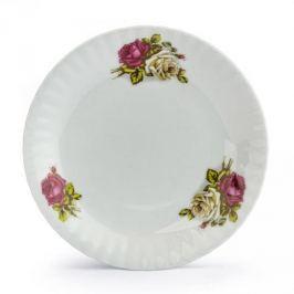 Talerz deserowy porcelanowy CHODZIEŻ IWONA KRÓLEWSKA RÓŻA BIAŁY 19 cm