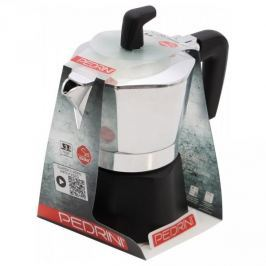 Kawiarka aluminiowa ciśnieniowa PEDRINI SEI MOKA - kafetiera na 3 filiżanki espresso
