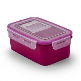 Pojemnik na żywność plastikowy BRANQ QLOCK RECT FIOLETOWY 1 l