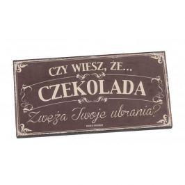 Tabliczka z napisem dekoracyjna drewniana PAN DRAGON CZEKOLADA