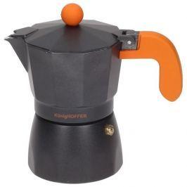 Kawiarka aluminiowa ciśnieniowa KONIGHOFFER BLACK AMERICANO CZARNA - kafetiera na 3 filiżanki espresso
