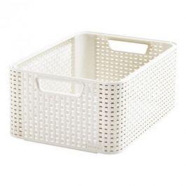 Koszyk do przechowywania plastikowy CURVER MY STYLE M KREMOWY
