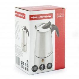 Kawiarka stalowa ciśnieniowa FLORINA LUNGO - kafetiera na 4 filiżanki espresso