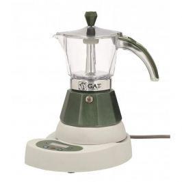 Kawiarka elektryczna aluminiowa ciśnieniowa GAT VITAGE CIEMNOZIELONA - kafetiera na 4 filiżanki espresso
