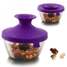 Pojemnik na żywność plastikowy z dozownikiem TOMORROWS KITCHEN HOP PURPUROWY 0,45 l