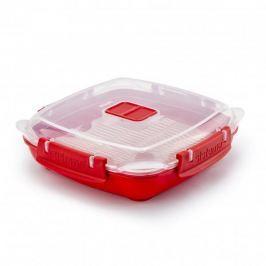 Pojemnik do mikrofali z pokrywką plastikowy SISTEMA MICROWAVE RED 0,44 l