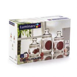 Słoiki z pokrywką szklane LUMINARC CONSTELLATION BLACK 3 szt