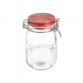 Słoik z pokrywką na ciastka szklany KILNER TOP JAR CZERWONY 1 l