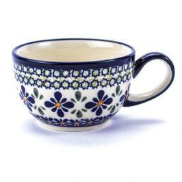 Filiżanka do kawy i herbaty ceramiczna GU-883 DEK. DU60 Bolesławiec KREMOWA 250 ml