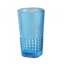 Szklanka do napojów szklana CILIO CRYSTAL LINE NIEBIESKA 400 ml