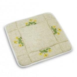 Koszyk na chleb i pieczywo poliestrowy KRÓLICZEK W OGRÓDKU BEŻOWY 21 x 21 cm