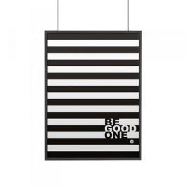 Plakat z napisami dekoracyjny papierowy DEKOSIGN POSTER BE GOOD ONE CZARNY 70 x 50 cm