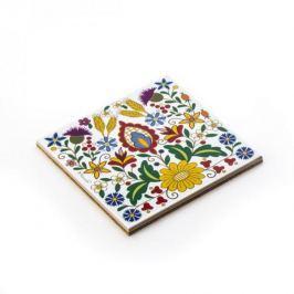 Podkładka pod garnek ceramiczna NANAELO KOCIEWIE KWIATY 15 x 15 cm