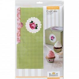 Karton/ Pudełko na ciastka i muffinki BIRKMANN FLOWER ZIELONY 2 szt.