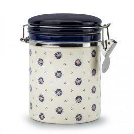 Pojemnik ceramiczny na żywność FOLKLOR KÓŁKA KREMOWY 0,7 l