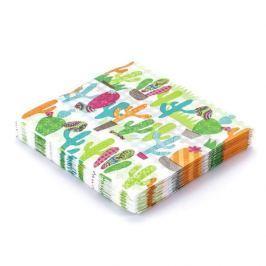 Serwetki papierowe dekoracyjne PAW KAKTUS ZIELONE 20 szt.