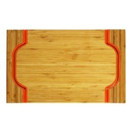 Taca bambusowa JUNGLE POMARAŃCZOWA 40 x 30 cm