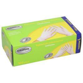 Rękawiczki lateksowe WHITE L 100 szt.