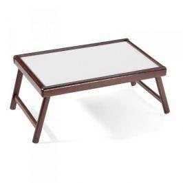 Stolik śniadaniowy do łóżka drewniany TRAMONTINA BREAKFAST CIEMNOBRĄZOWY 53,5 x 33,5 cm