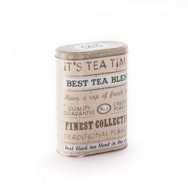 Puszka na herbatę metalowa TEA BEŻOWA