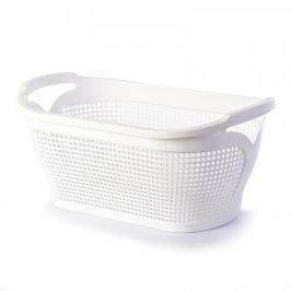 Brudownik / Kosz na pranie i bieliznę plastikowy TONTARELLI INGRID BIAŁY 35 l