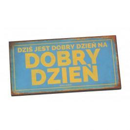 Tabliczka z napisem dekoracyjna drewniana PAN DRAGON DOBRY DZIEŃ